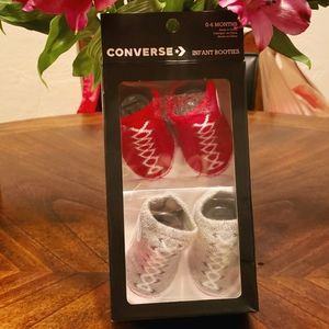 Converse infant booties